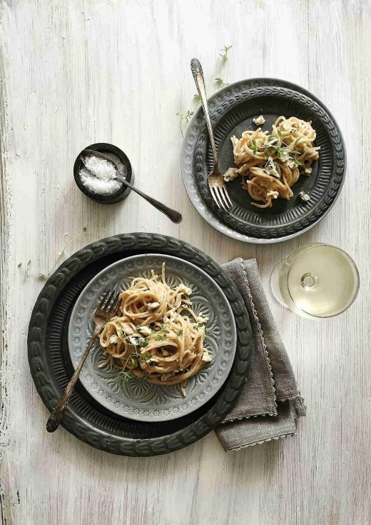 blåmuggost-norzola-pasta