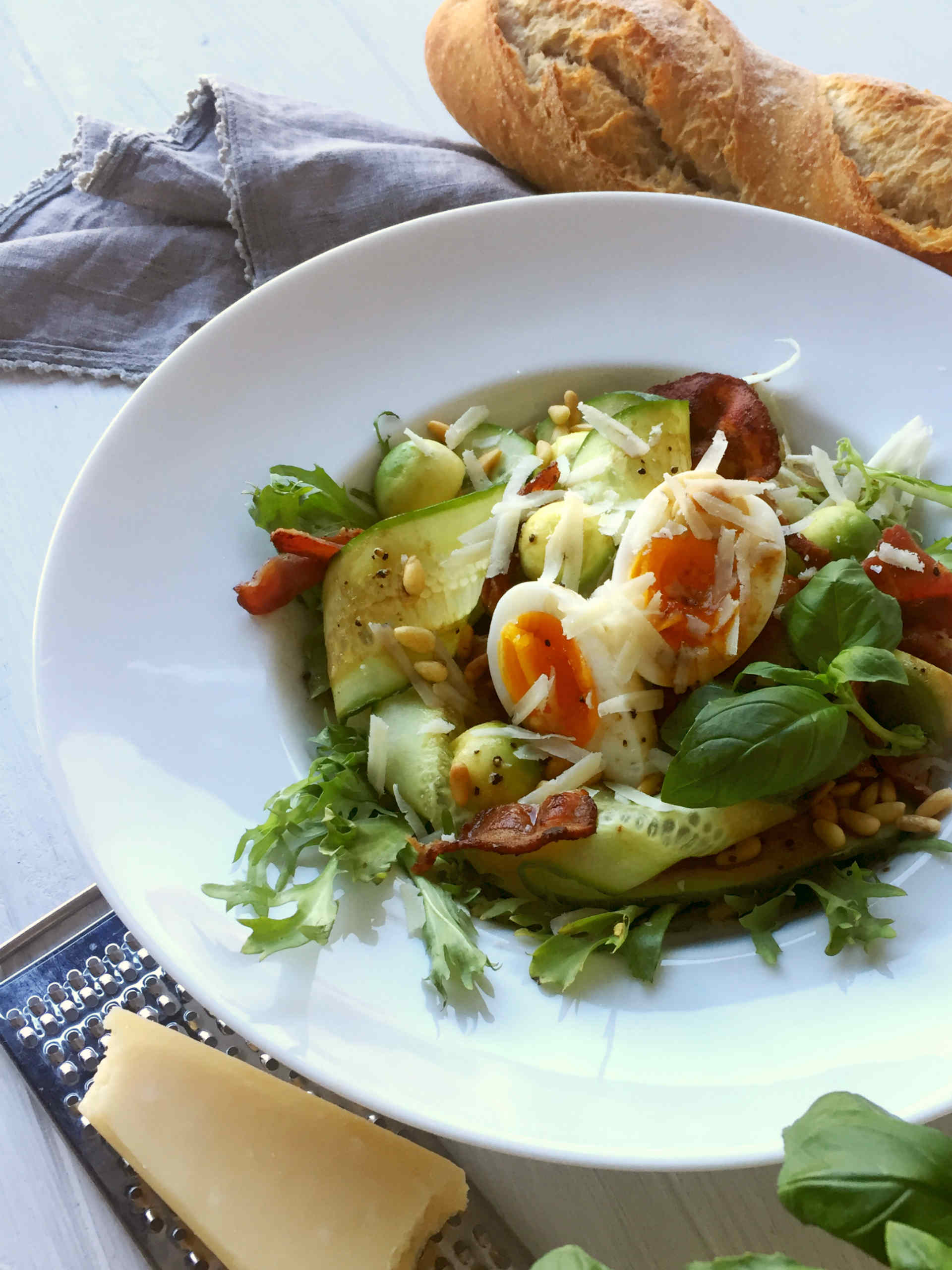 Avocado & Bacon Salad with Parmesan