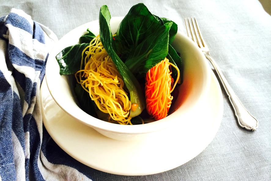 Pak Choy & veggie noodles