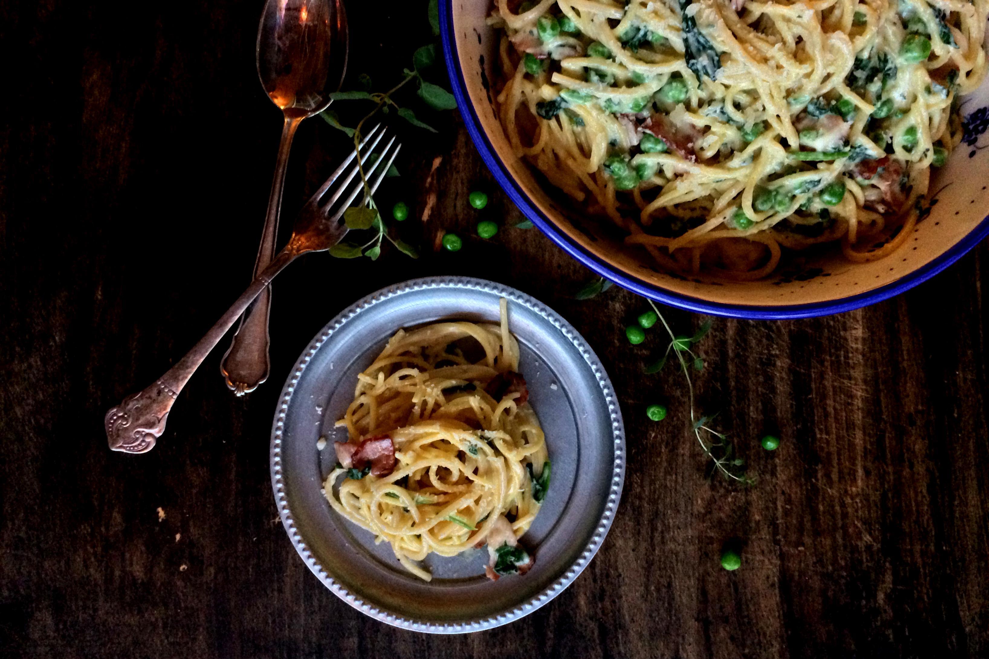 Creamy Porky Spaghetti