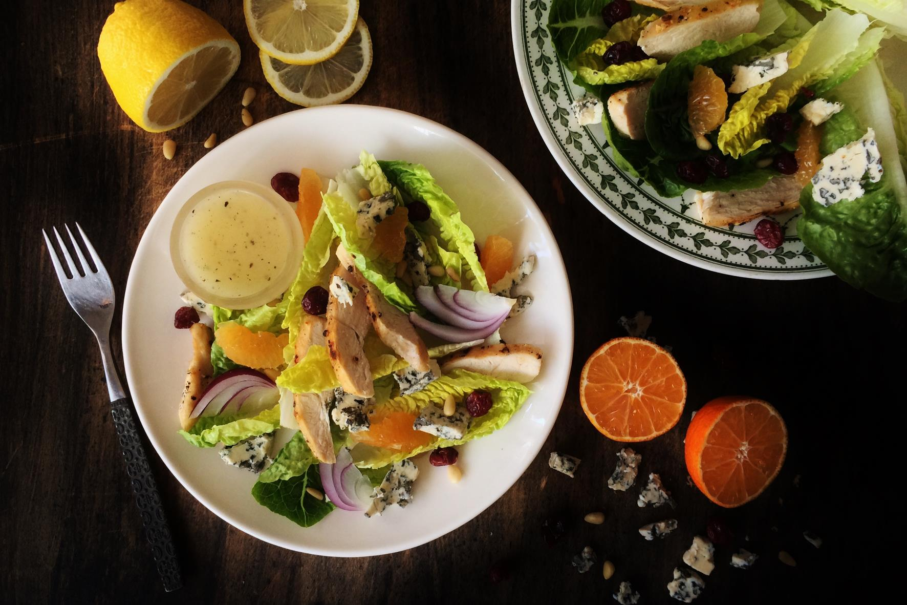Honey Citrus & Blue Cheese Chicken Salad