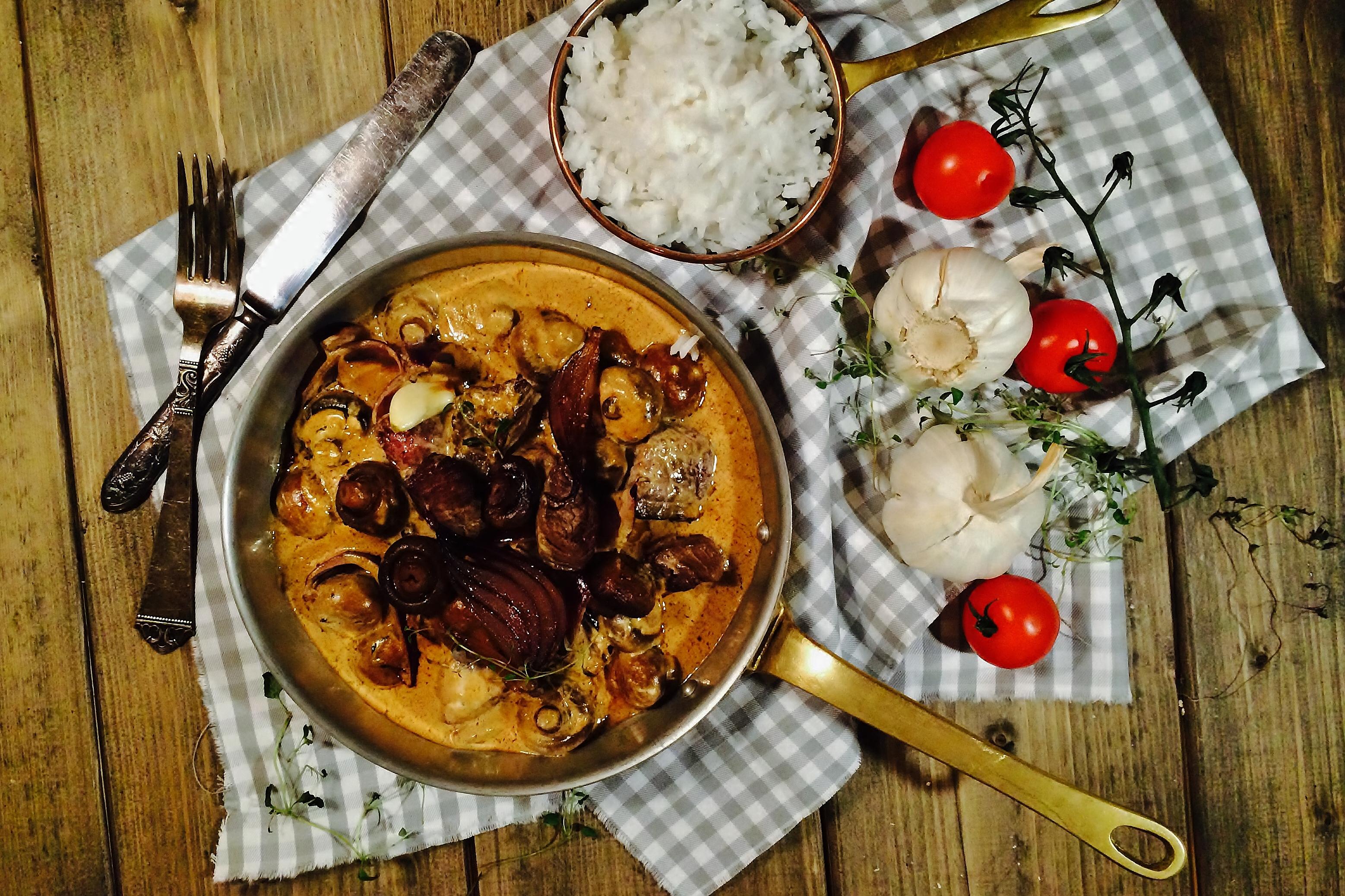 Beef Stroganoff with Mushroom & Chipotle