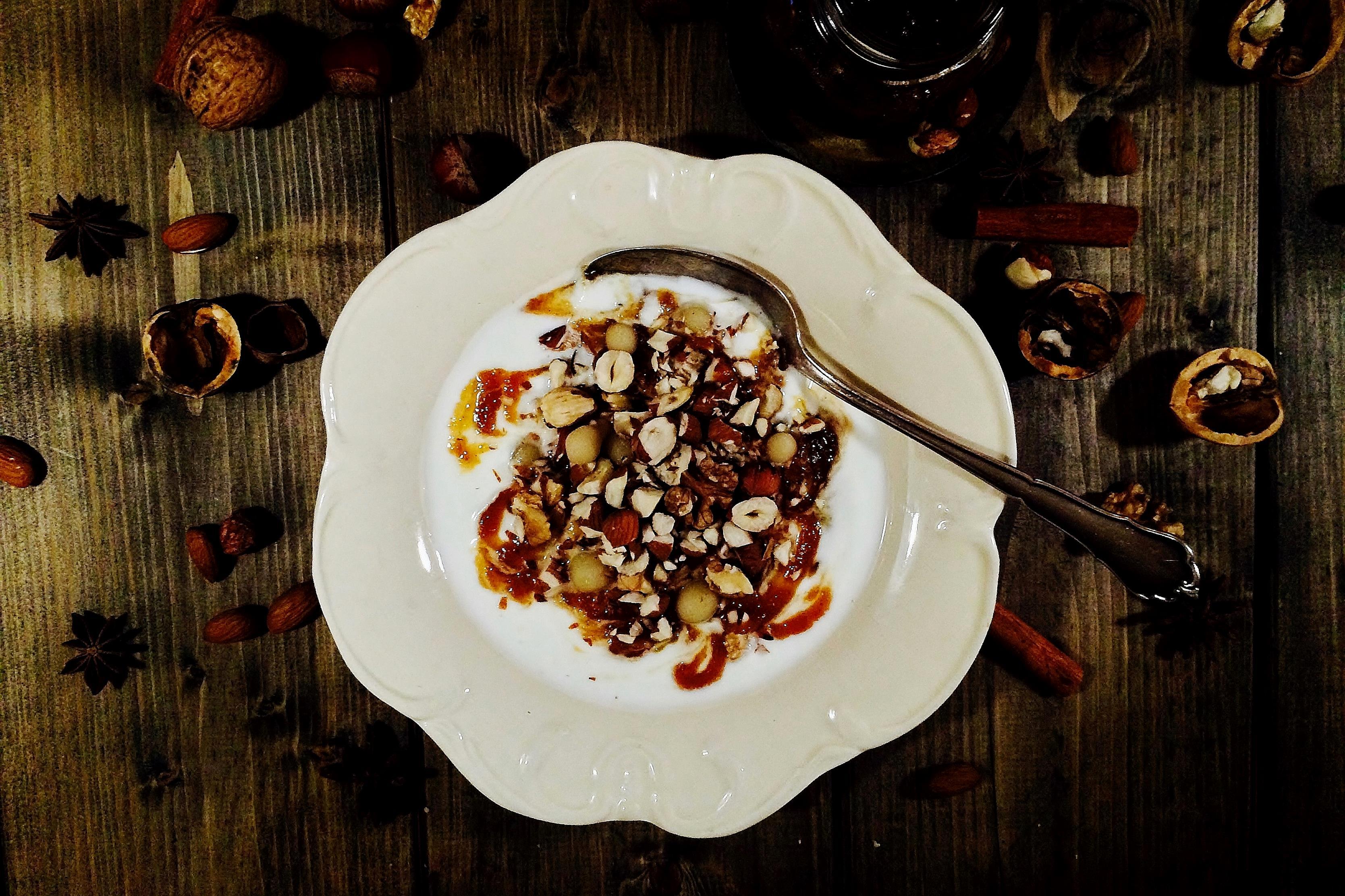 Yogurt, Nuts and Christmas Spiced Apple Chutney