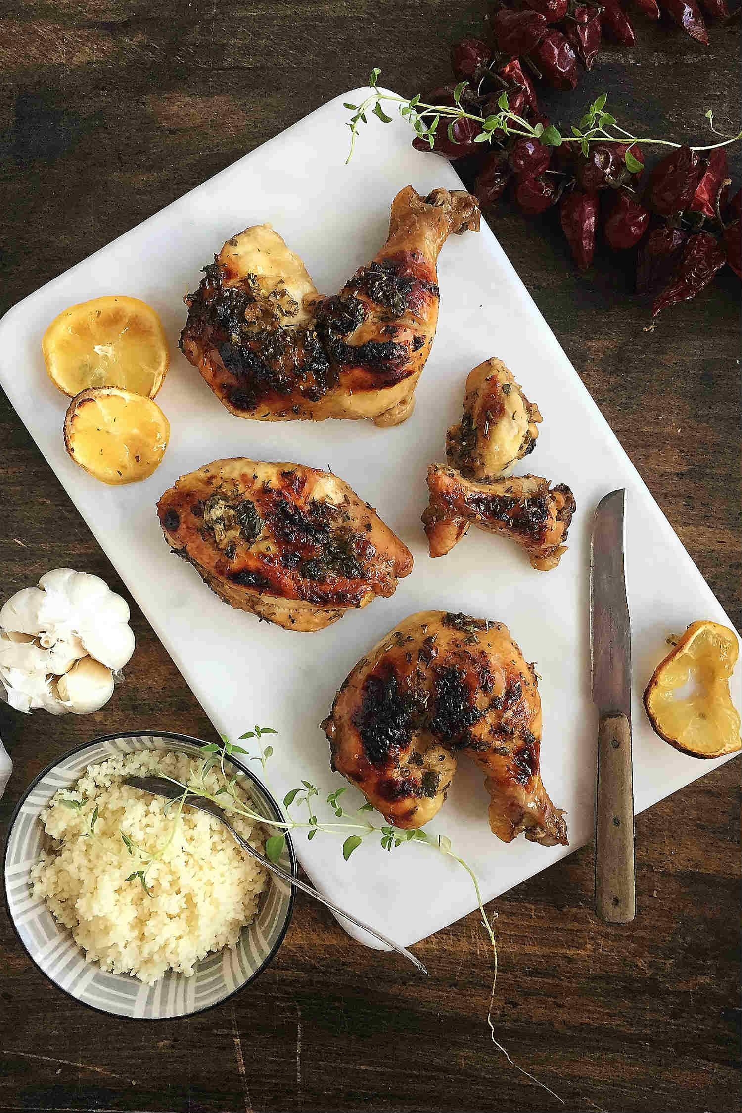 Honey-Lemon Glazed Grilled Chicken
