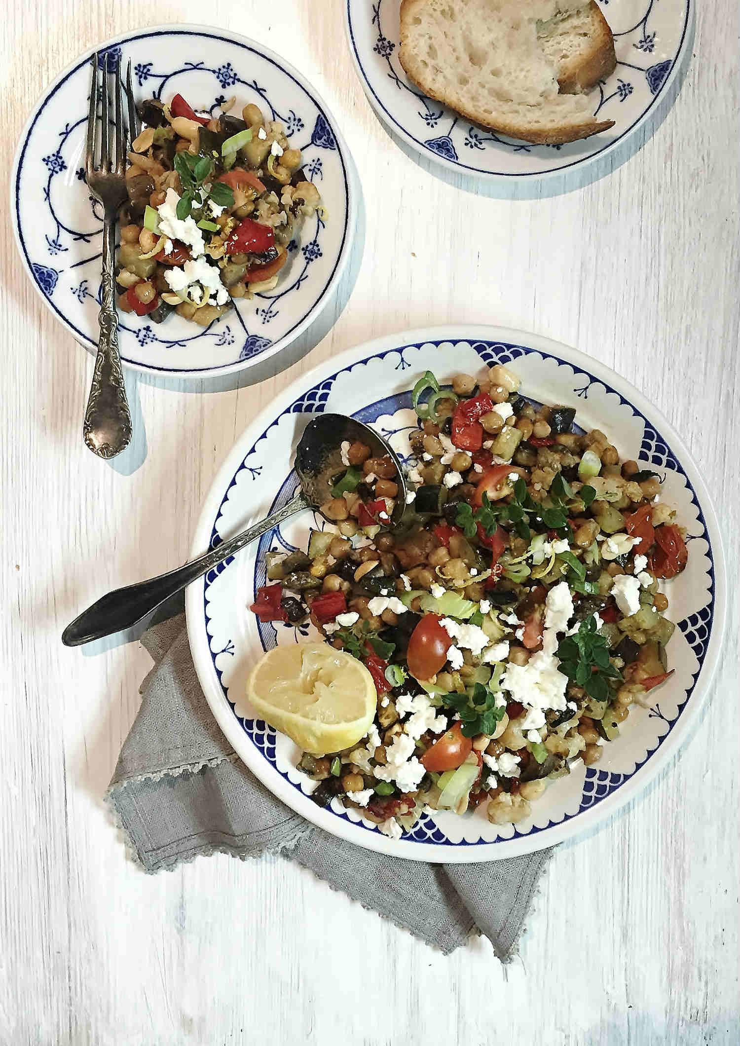 Mediterranean Feta-Veggie Salad