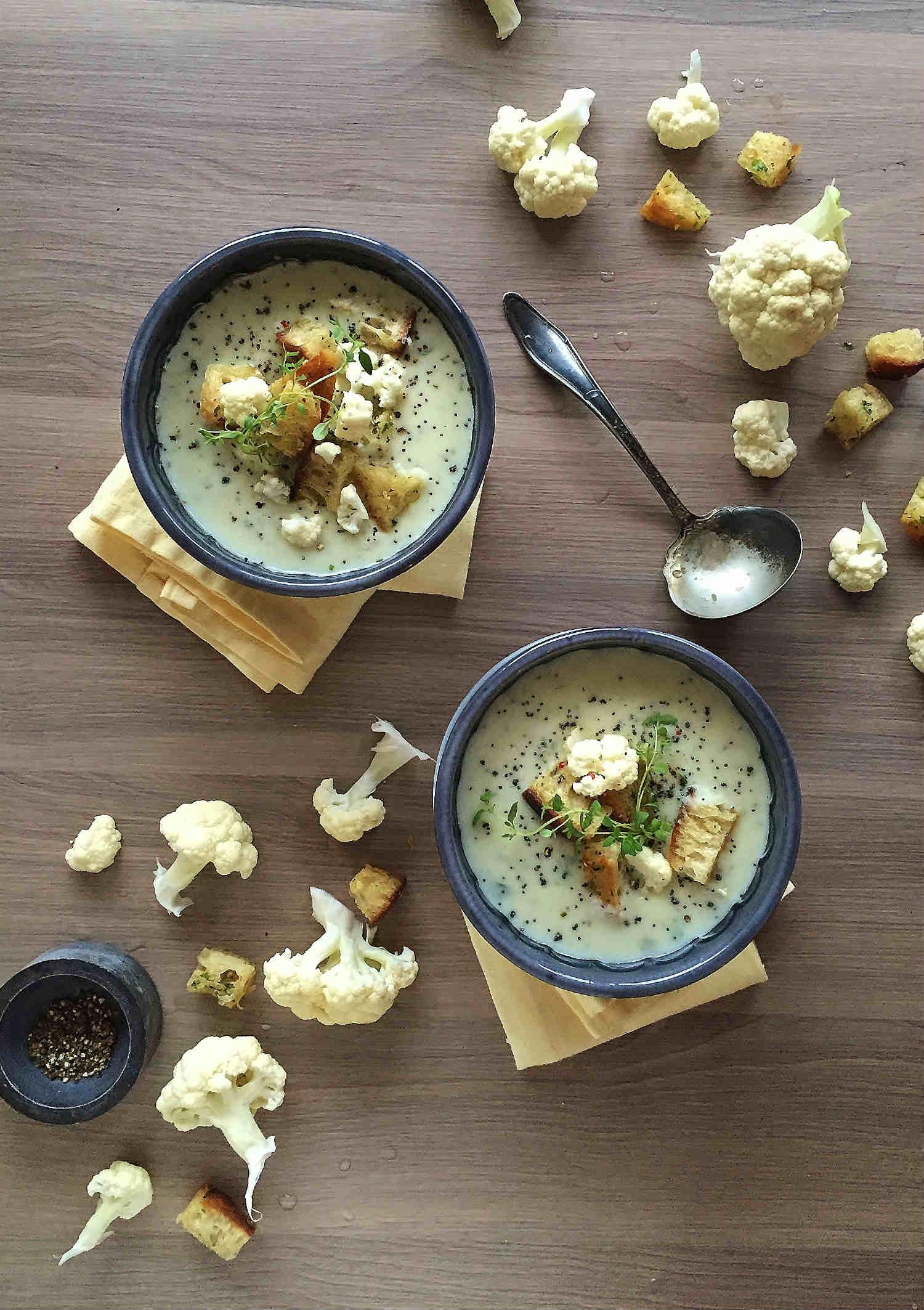 blomkål-suppe